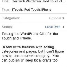 Test with WordPress iPod Touch client