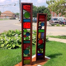 Glass Totems in Dearborn &#8211; Day 10 of 31 photos in 31 days