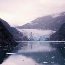 Mendenhall glacier and Juneau, Alaska