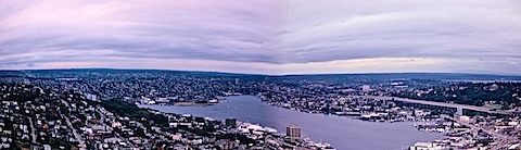 Seattle Panorama July 1981