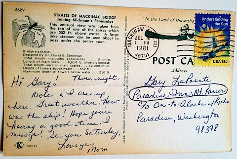 Postcard from Mom