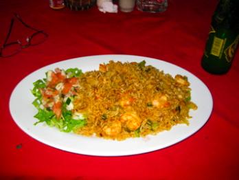 Camaron y arroz